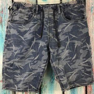 Buffalo David Bitton Blue Denim Camo Shorts